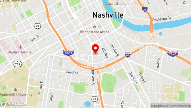 Google Map of 623 7th Avenue South, Nashville, TN 37203