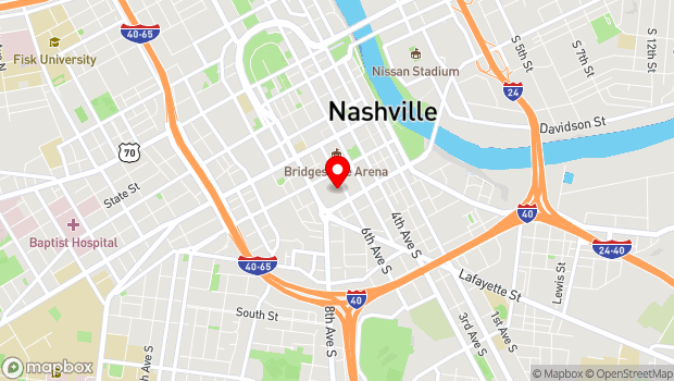Google Map of 201 Fifth Avenue South, Nashville, TN 37203