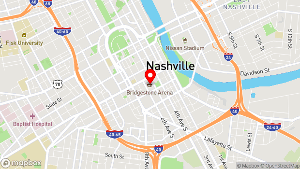 Google Map of 501 Broadway, Nashville, TN 37203