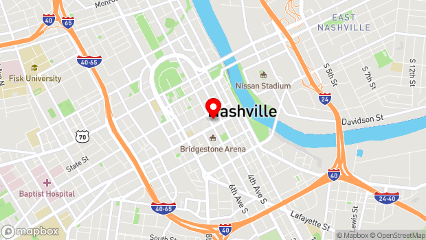 Google Map of 116 Fifth Avenue North, Nashville, TN 37219
