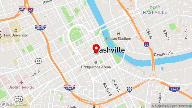 Google Map of 116 Fifth Avenue North, Nashville, TN 37219