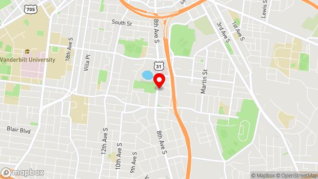 Google Map of 1604 8th Avenue South, Nashville, TN 37203