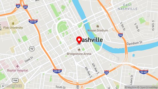 Google Map of 428 Broadway, Nashville, TN 37201