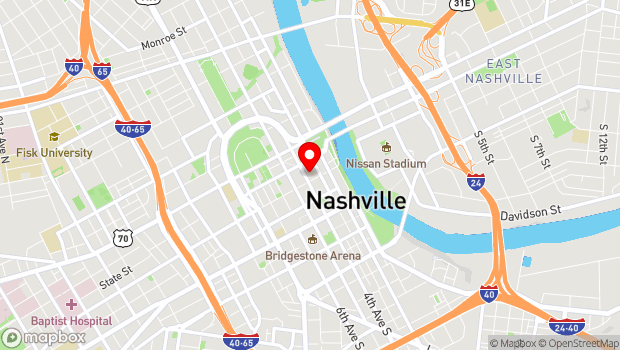Google Map of 210 Printers Alley, Nashville, TN 37201