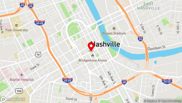 Google Map of 510 Broadway, Nashville, TN 37203