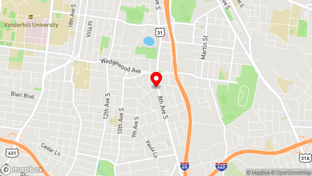 Google Map of 2025 8th Avenue South, Nashville, TN 37204