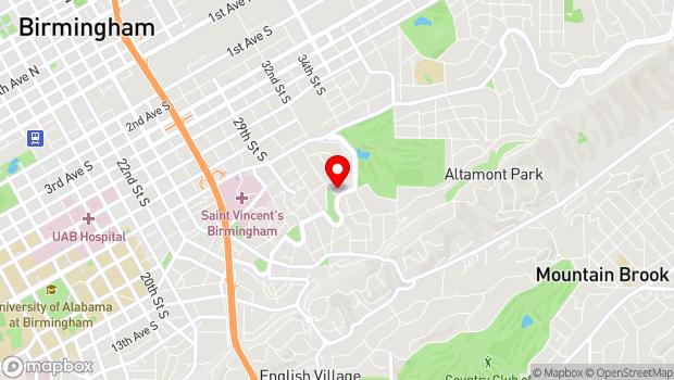 Google Map of 3100 Highland Avenue, Birmingham, AL 35205