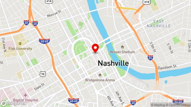 Google Map of 401 Union Street, Nashville, TN 37219