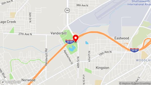 Google Map of 3969 14th Avenue N, Birmingham, AL 35234