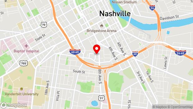 Google Map of 809 Gleaves Street, Nashville, TN 37203