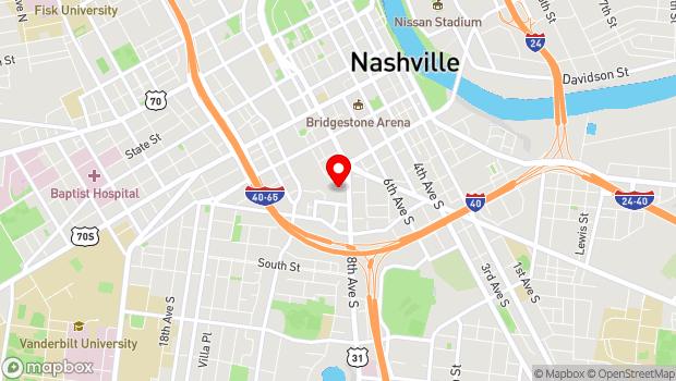 Google Map of 1 Cannery Row, Nashville, TN 37203