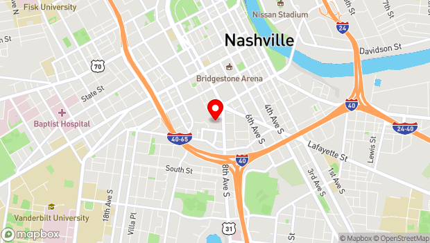 Google Map of One Cannery Row, Nashville, TN 37203
