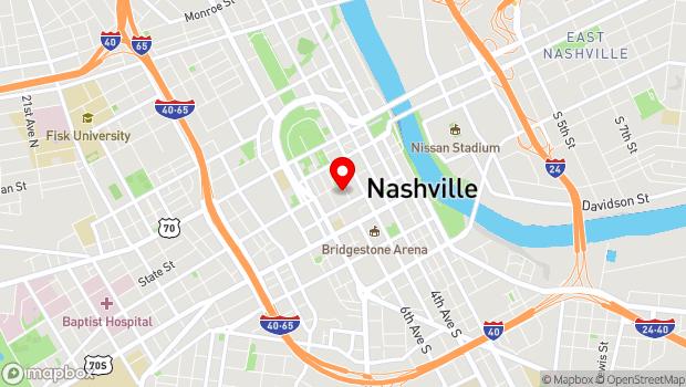 Google Map of 615 Church Street, Nashville, TN 37219