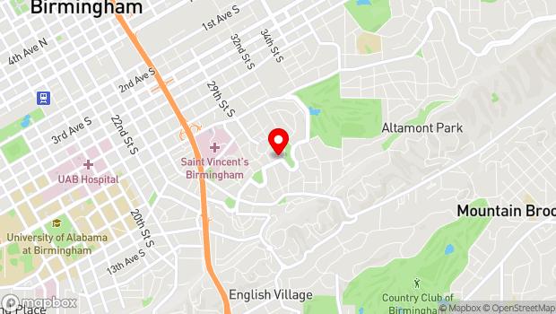 Google Map of 2908 Highland Ave. South , Birmingham, AL 35205-