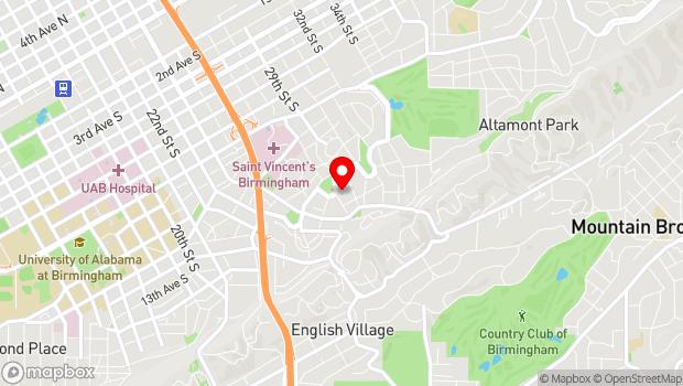 Google Map of 2803 Highland Avenue, Birmingham, AL 35205