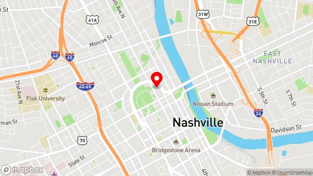 Google Map of 401 Gay Street, Nashville, TN 37219