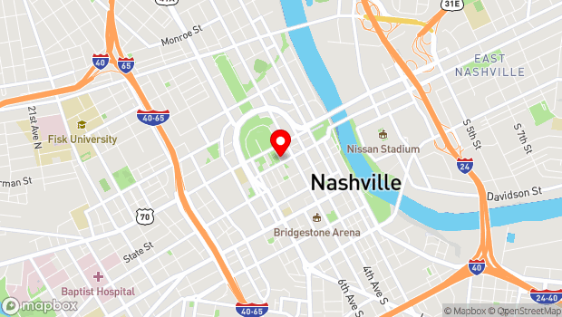 Google Map of 505 Deaderick Street, Nashville, TN 37219
