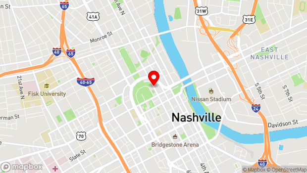 Google Map of 5th Avenue North, Nashville, TN 37219