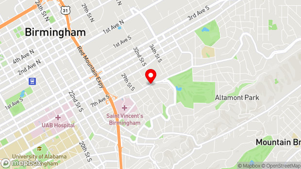 Google Map of 3101 Clairmont Avenue, Birmingham, AL 35205