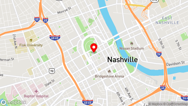 Google Map of 301 Sixth Avenue North, Nashville, TN 37243