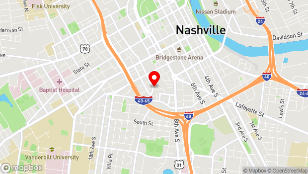 Google Map of 314 11th Ave S., Nashville, TN 37203