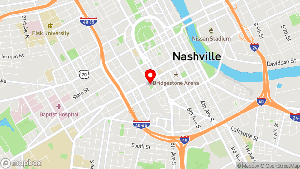 Google Map of 919 Broadway, Nashville, TN 37203
