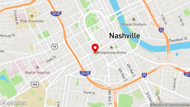 Google Map of 919 Broadway, Nashville, TN 37203