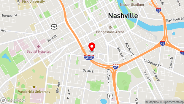 Google Map of 402 12th Avenue South, Nashville, TN 37203