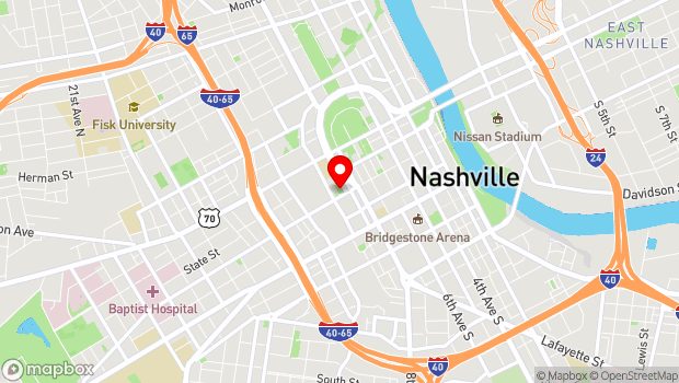 Google Map of 1000 Church St., Nashville, TN 37203
