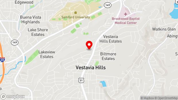 Google Map of 1994 Shades Crest Road, Birmingham, AL 35216
