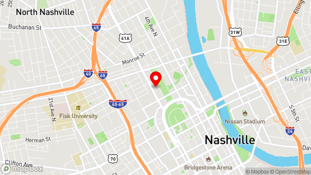Google Map of 900 Rosa L Parks Blvd, Nashville, TN 37208