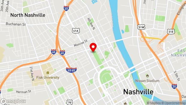 Google Map of 900 Rosa L Parks Blvd., Nashville, TN 37208