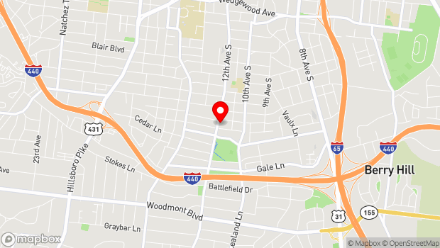 Google Map of 12 South Neighborhood, Nashville, TN 37204