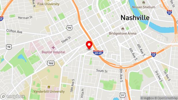 Google Map of 1516 Demonbruen Street, Nashville, TN 37203
