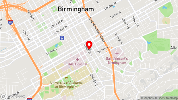 Google Map of 513 22nd St So, Birmingham, AL 35233