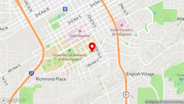 Google Map of 1016 19th Street S, Birmingham, AL 35205