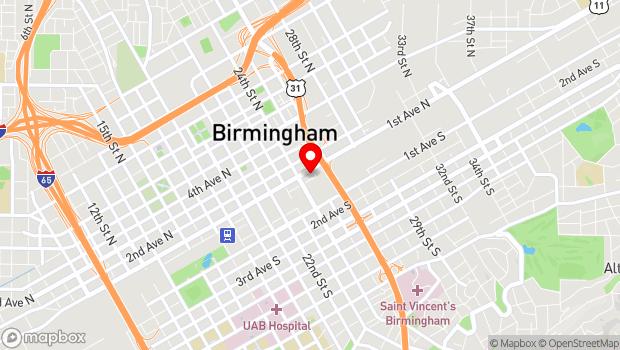 Google Map of 2430 Morris Ave, Birmingham, AL 35203