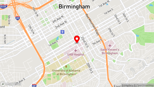 Google Map of 433 20th St S, Birmingham, AL 35233