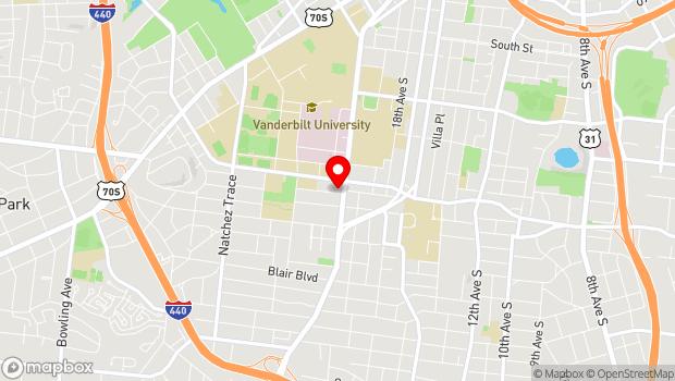 Google Map of 2102 Belcourt Avenue, Nashville, TN 37212