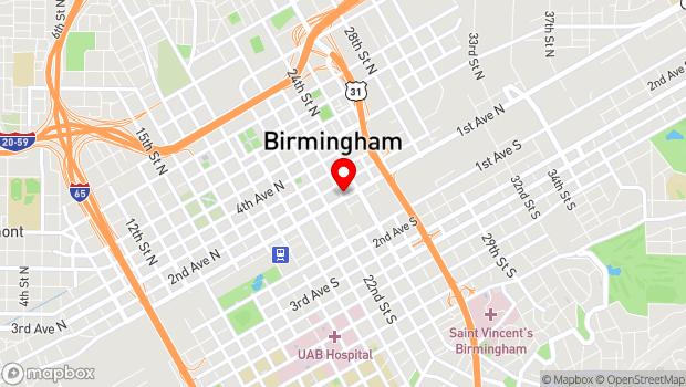 Google Map of 2300 1st Avenue N, Birmingham, AL 35203