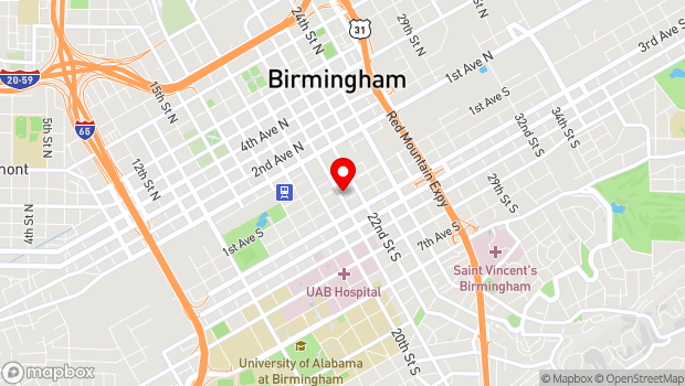 Google Map of 109 Richard Arrington Blvd South, Birmingham, AL 35233