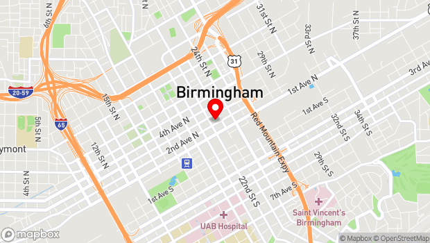 Google Map of 2212 2nd Avenue N, Birmingham, AL 35203