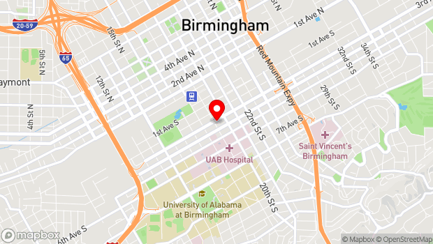 Google Map of 307 19th Street South, Birmingham, AL 35233