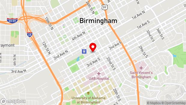 Google Map of 20 20th Street S, Birmingham, AL 35233