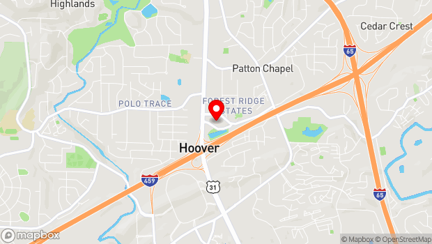 Google Map of 200 Municipal Dr, Hoover, AL 35216