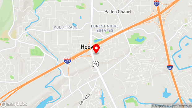 Google Map of 1705 Montgomery Highway, Hoover , AL 35244