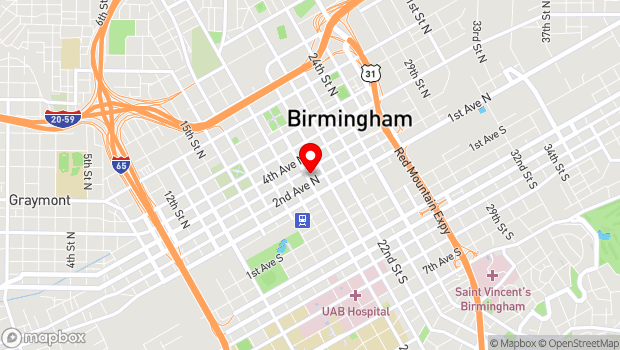 Google Map of 215 20th Street North, Birmingham, AL 35203