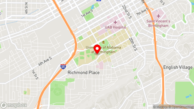 Google Map of 950 13th Street South, Birmingham, AL 35205