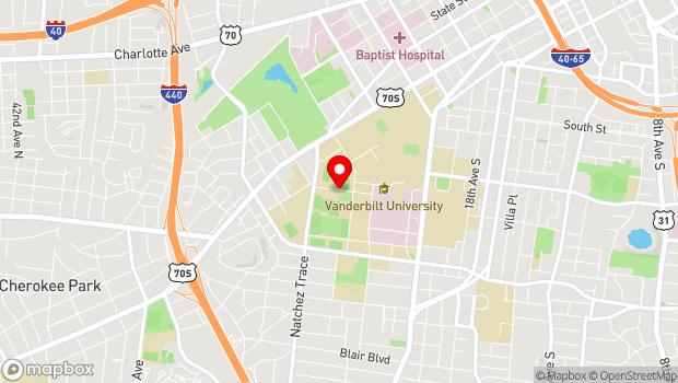 Google Map of 2601 Jess Neely Drive, Nashville, TN 37212