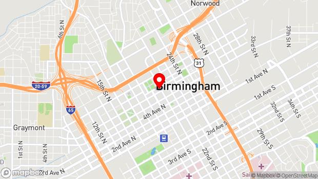 Google Map of 2021 Park Place North, Birmingham, AL 35203